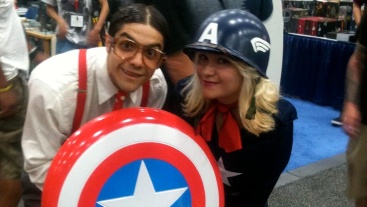 Franklin Marshall and Captain America at ComiCon